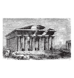 temple of neptune located in the graeco-roman vector image
