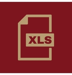 The XLS icon File format symbol Flat vector