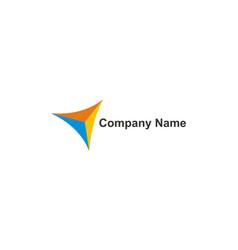 triangle colored company logo vector image