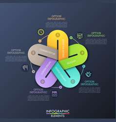 unusual infographic design layout 5 colorful vector image