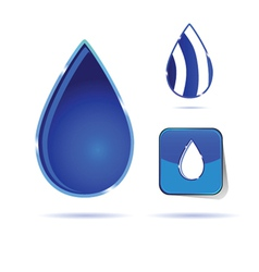 water drop color vector image