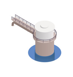 water supply icon vector image