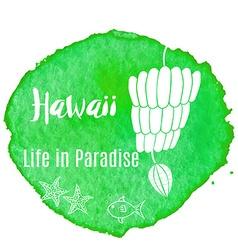 Watercolor Hawaiian tropical graphic design vector