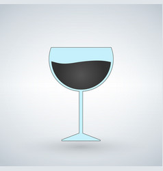 wine glass isolated on white background vector image