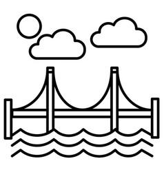 bridgesan francisco line icon sign vector image vector image