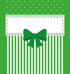 card invitation green vector image