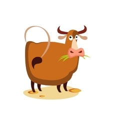 Cow Flat vector image
