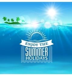 Enjoy summer holidays travel poster background vector image