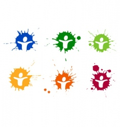 pictogram blots vector image vector image