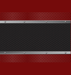 red and black texture with bolts vector image