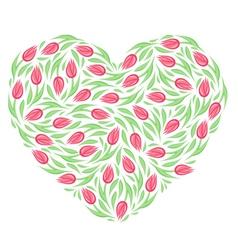 Tulip heart vector image