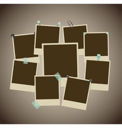 ancient photo frames vector image vector image