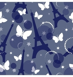 Fashion seamless background on blue vector image vector image