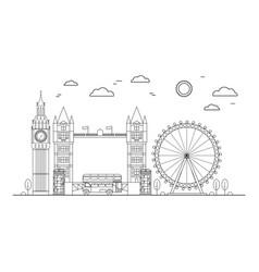 london city thin line art vector image vector image