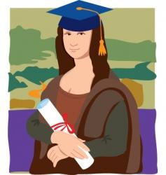 Mona lisa graduate vector