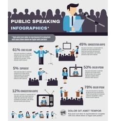 Public Speaking Infographics vector image vector image