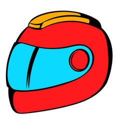 racing helmet icon icon cartoon vector image