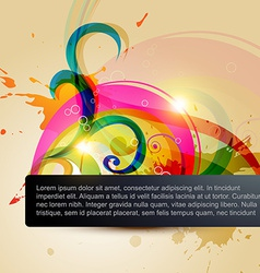 stylish floral background vector image vector image