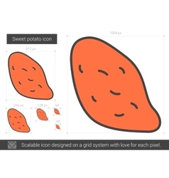 Sweet potato line icon vector image vector image