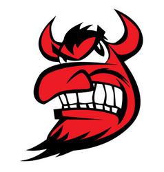 devil face character cartoon vector image vector image