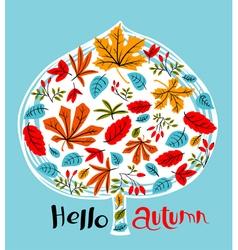 Fall season background design vector image vector image