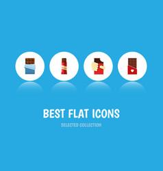 Flat icon sweet set of shaped box sweet bitter vector