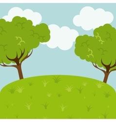 landscape background design vector image vector image