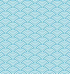 waves seamless pattern in china ancient style vector image vector image