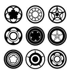 Bike Chainring Set vector image