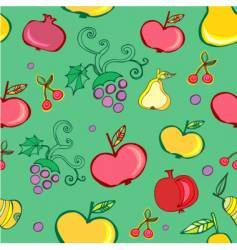 fruits wallpaper pattern vector image