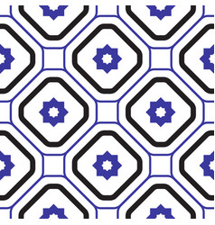 geometric mediterranean blue and white rhombus vector image vector image