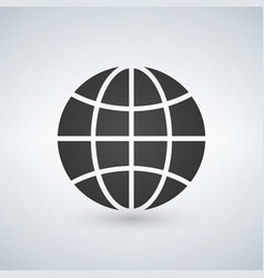 globe earth icon isolated on white vector image