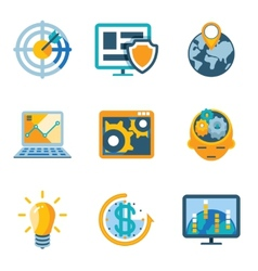 Process Automation and Increase Efficiency Icons vector image vector image
