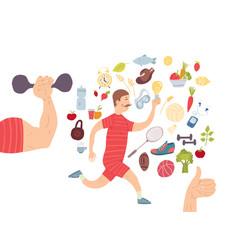 running man jogger cardio training sports vector image vector image