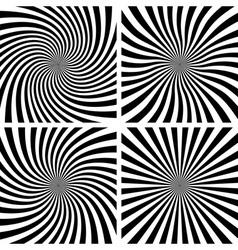 Set of Spiral backgrounds vector image vector image
