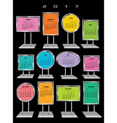 2017 calendar Sign Holders vector
