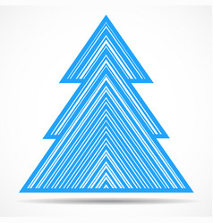 abstract christmas tree of colorful lines vector image