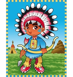 Baby Indian Boy vector