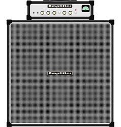bass guitar amplifier vector image