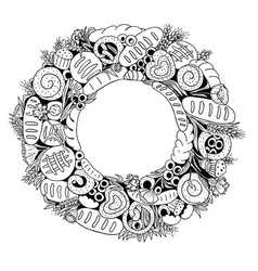 bread wreath vector image
