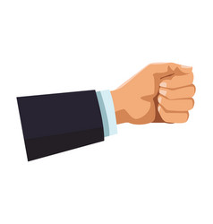 businessman hand with hand closed vector image