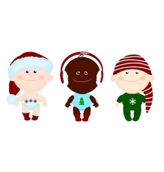 children kids christmas clothes vector image