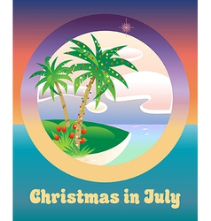 Christmas in July vector image