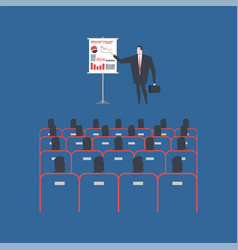 coaching businessman making presentation in vector image