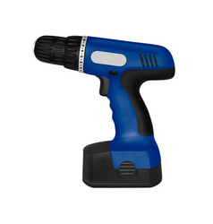 cordless screwdriver in the on a white back vector image