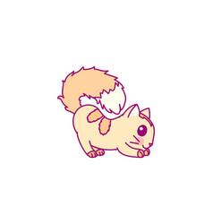 cute little cat clipart vector image