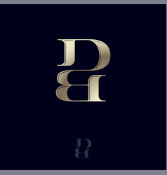 d b monogram logo combined letters emblem vector image