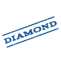 Diamond watermark stamp vector