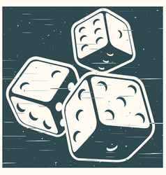 dices in retro style vector image