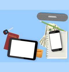 Digital tablet vector